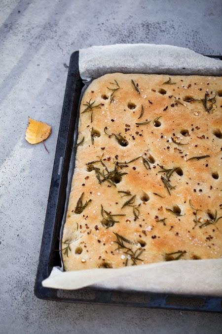 focaccia leipä resepti ohje