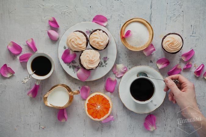 Moccamaster ruusukahvi veriappelsiinimuffinssit resepti