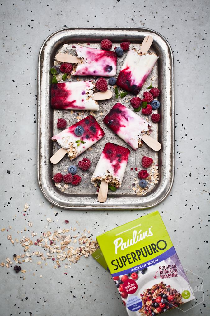 jogurttijäätelö resepti