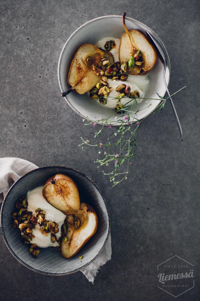 päärynät uunissa resepti