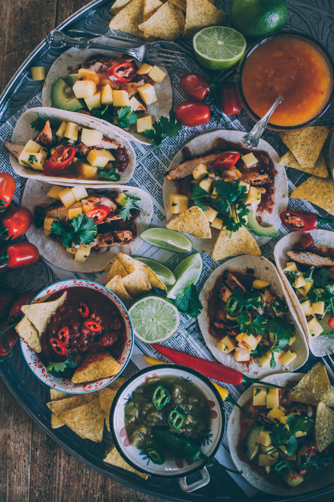 Taco I Meksikolainen I Kanataco I Kanafajitas I Illanistujaiset I Pikkujoulut I Resepti I Ruokakuvaus I Valokuvaus