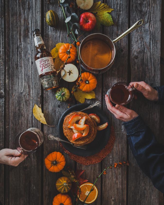 kurpitsapannukakut I pannukakut I kurpitsa I halloween I resepti I leivonta I valokuvaus I ruokakuvaus I pumpkin pancakes
