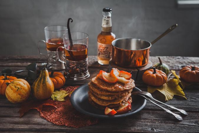 kurpitsapannukakut I pannukakut I kurpitsa I halloween I resepti I leivonta