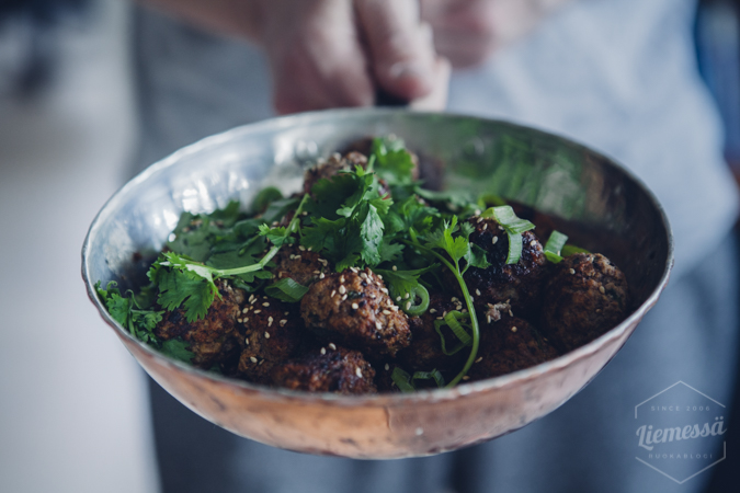 Aasialaiset lihapullat I Lihapulla I Resepti I Ohje I Arkiruoka I Aasialainen I Asian meatballs