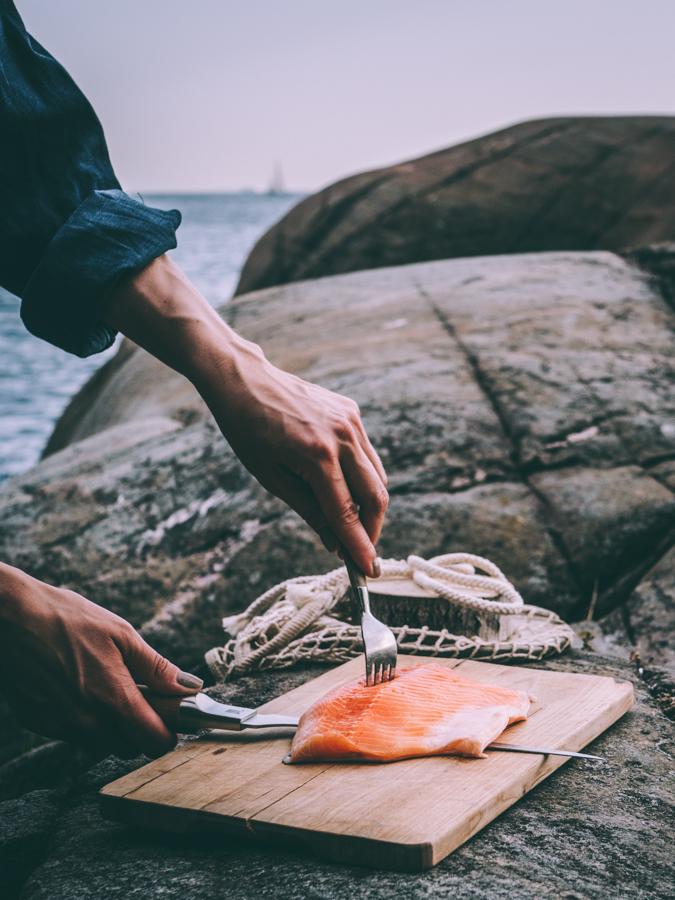 kalan paistaminen pannulla