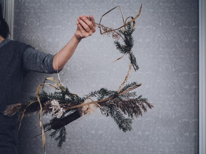 jouluseppele I DIY I joulu I seppele I sisustus I joulukoriste I vinkit I simple christmas wreath
