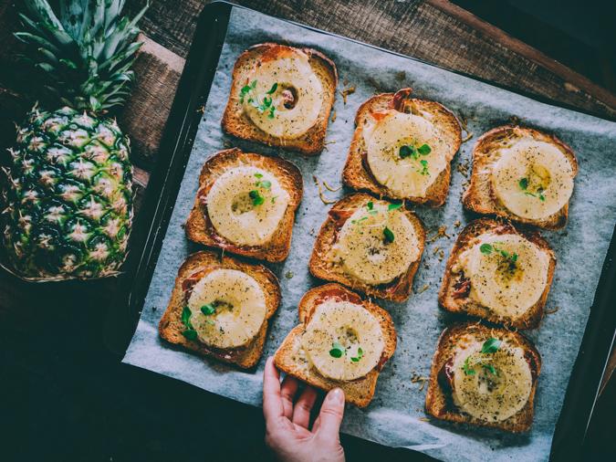 Ananaslämppärit I lämpimät voileivät I iltapala I välipala I resepti I ohje I illanistujaiset I leipä