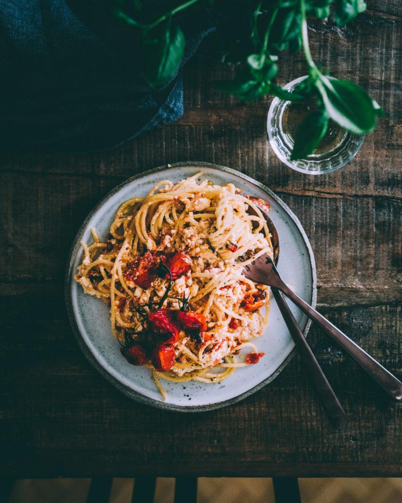 Baked feta pasta food blog