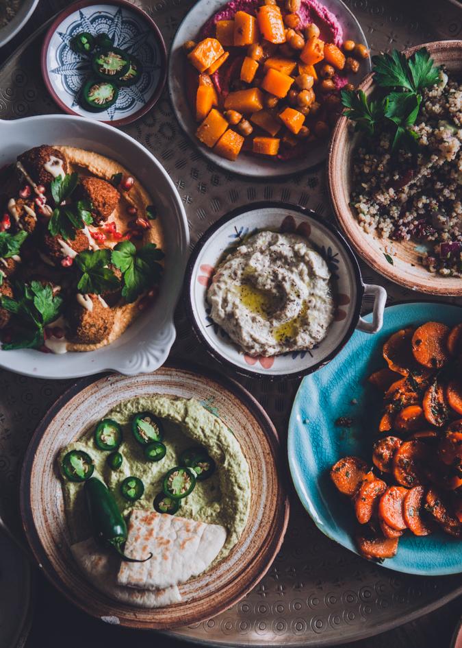 Mezepöytä falafel resepti