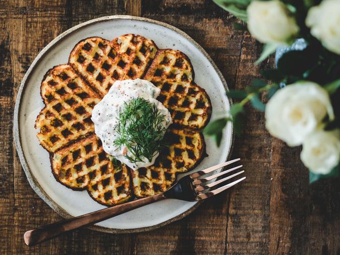 Parmesaani-perunavohvelit